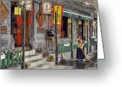 Chinese Greeting Cards - Tea House Greeting Card by Scott Norris