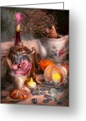 Hatter Greeting Cards - Tea Party - I would love to have some tea  Greeting Card by Mike Savad