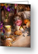 Hatter Greeting Cards - Tea Party - The magic of a tea party  Greeting Card by Mike Savad