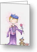 Storybook Greeting Cards - Tea Party Greeting Card by Sarah LoCascio
