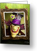 Mad Hatter Digital Art Greeting Cards - Tea Time for the Twisted Greeting Card by Bill Fleming