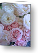Bouquet Of Roses Greeting Cards - Tea Time Roses Greeting Card by Carol Groenen