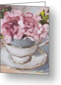 Teacup Greeting Cards - Teacup 2 Greeting Card by Tanya Jansen