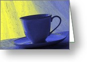 Teacup Digital Art Greeting Cards - Teacup Greeting Card by Jacqueline Milner