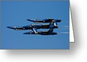 Plane Photo Greeting Cards - Teamwork Greeting Card by Adam Romanowicz