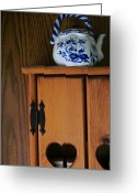 Teapot Greeting Cards - Teapot on Cabinet Greeting Card by Guy Ricketts