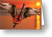 Taylor Guitar Greeting Cards - Teardrops On My Guitar Rocks Greeting Card by Eric Kempson
