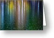 Grand Memories Greeting Cards - Tears on a Rainbow Greeting Card by John Haldane