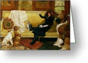 Couch Greeting Cards - Teatime Treat Greeting Card by John Charlton