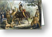 Buckskin Horse Greeting Cards - Tecumseh (1768-1813) Greeting Card by Granger