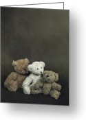 Kid Photo Greeting Cards - Teddy Bear Family Greeting Card by Joana Kruse