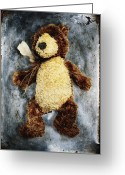 Shimmering Greeting Cards - Teddy Bear Greeting Card by Skip Nall