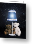 Black Fur Greeting Cards - Teddy Bears Greeting Card by Joana Kruse
