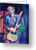Rock  Painting Greeting Cards - Telecaster- Keith Richards Greeting Card by David Lloyd Glover