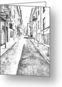 City Street Greeting Cards - Telegraph Hill Greeting Card by Scott Norris
