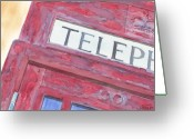 Ken Greeting Cards - Telephone Booth Greeting Card by Ken Powers