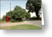 Old Country Roads Greeting Cards - Telephone Box Greeting Card by Victor De Schwanberg