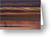 Stroke Greeting Cards - Tempe Town Lake Rowers Abstract 2 Greeting Card by Dave Dilli