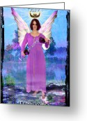Chalice Greeting Cards - Temperance Greeting Card by Tammy Wetzel