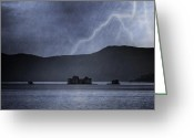 Raining Greeting Cards - Tempest Greeting Card by Joana Kruse