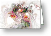 Storm Digital Art Greeting Cards - Tempest Greeting Card by NirvanaBlues