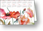 Calendar Greeting Cards - Template for calendar 2013 Greeting Card by Regina Jershova