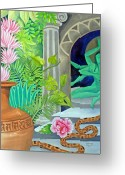 Sensuous Greeting Cards - Temple In the Jungle Greeting Card by Jennifer Baird