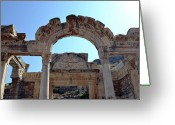 Eastern Turkey Greeting Cards - Temple of Hadrian. Greeting Card by Terence Davis