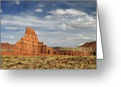 Capitol Greeting Cards - Temple Of The Moon Greeting Card by David Hogan