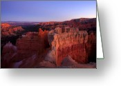 Glow Greeting Cards - Temple of the setting sun Greeting Card by Mike  Dawson
