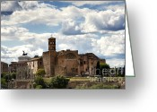 Roma Greeting Cards - Temple of Venus and Roma Greeting Card by Fabrizio Troiani