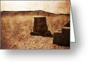Hot Tuna Greeting Cards - Temple Remains Greeting Card by Bernice Williams