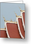 That Greeting Cards - Temple Roof Detail. Greeting Card by Thomas Pickard