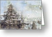Philsh Greeting Cards - Temples Of The North Greeting Card by Phil Sadler