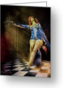 Dances Greeting Cards - Temptation  Greeting Card by Bob Orsillo