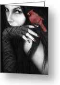 Haired Greeting Cards - Temptation Greeting Card by Pat Erickson