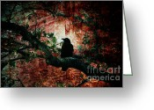 Tree Creature Greeting Cards - Tempting Fate Greeting Card by Andrew Paranavitana