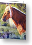 Western Pastels Greeting Cards - Temptress 2 Greeting Card by Deb LaFogg-Docherty