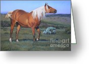 Western Pastels Greeting Cards - Temptress 3 Greeting Card by Deb LaFogg-Docherty
