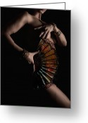 Naked Woman Greeting Cards - Temptress Greeting Card by David  Naman