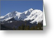 Snow-cap Greeting Cards - Ten Mile Peak aka Peak One Colorado Greeting Card by Brendan Reals