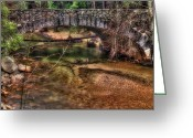 Yosemite Creek Greeting Cards - Tenaya River Bridge Greeting Card by Jeffrey Campbell