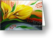 Flower Photographs Painting Greeting Cards - Tender Anemone Greeting Card by Uma Devi