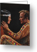 Trek Greeting Cards - Tenderness in His Touch Greeting Card by Kim Lockman
