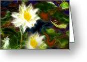Meditative Greeting Cards - Tending Her Garden Greeting Card by Patricia Motley
