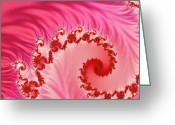 Reds Greeting Cards - Tendrils Greeting Card by Sharon Lisa Clarke
