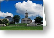 Legislature Greeting Cards - Tennessee State Capitol Nashville Greeting Card by Susanne Van Hulst