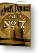 Jack Daniels Greeting Cards - Tennessee Whisky Greeting Card by Staci-Jill Burnley
