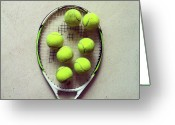 Directly Above Greeting Cards - Tennis Greeting Card by Shilpa Harolikar