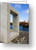 Door Sculpture Greeting Cards - Tensei Tenmoku  Greeting Card by Fabrizio Troiani